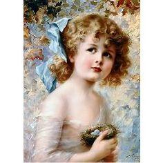 Girl Holding Nest by Émile Vernon