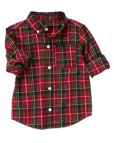 Plaid Shirt toddler boy, christmas picture