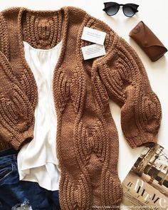 """Cardigan """"Circles on the water"""" - DIY, ideas for . Knitting Designs, Knitting Stitches, Knitting Patterns Free, Free Pattern, Cardigan Fashion, Knit Fashion, Mode Crochet, Knit Crochet, Cardigan Pattern"""