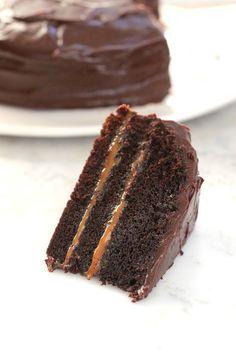 Torta doble chocolate y dulce de leche - Devil's food