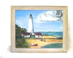 Items similar to West Chop Lighthouse, Martha's Vineyard print. original watercolor design. giclee print. coastal. nautical artwork on Etsy