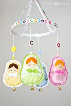 Matryoshka Baby Crib Mobile - Russian Doll - Babushka - Baby Shower Gift