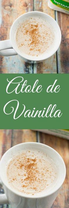 Atole de vainilla is a delicious hot Mexican beverage that is popular throughout the holidays. You must try it!