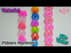 ♥ Tutorial: Pulsera Mariposa (sin telar) ♥ - YouTube