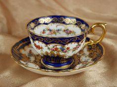 Crown Staffordshire Bone China Teacup and Saucer - England