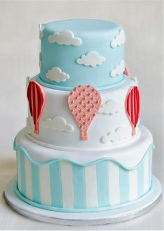 Tematica Baloane cu aer cald poate fi deosebita atat pentru tortul de botez cat si pentru decorul unui Candy bar in culori pastelate, toate acestea pentru a incanta papilele invitatilor tai. Pret: 350 ron. Pastel, Bar, Desserts, Food, Tailgate Desserts, Meal, Dessert, Eten, Meals