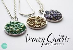 DIY Druzy Necklace @ mintedstrawberry.blogspot.com
