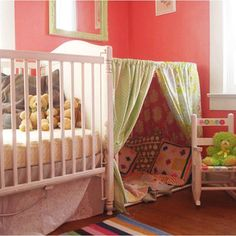 35 Playful and Fun DIY Tents for Kids. This is so cool as a play space/reading nook/nap area.