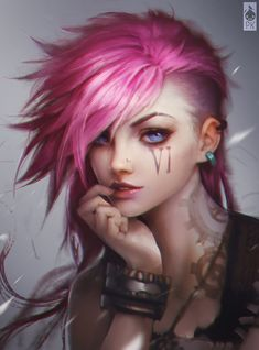 Vi Portrait Fan Art Colored by Zeronis on DeviantArt