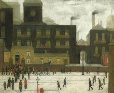 Lowry: A Street Scene: St Simon's Church Tate Britain, Public Display, Salford, English Artists, Urban Life, Urban Landscape, Sheep, Arch, Art Gallery