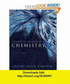 Principles of Modern Chemistry Solutions Manual