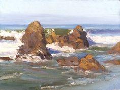 "Robert Impellizzeri ~ ""Malibu Motion"" ~ Oil on Panel 6 x 8"