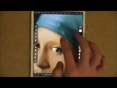 """Girl with a Pearl Earring"" Finger Painting on iPad mini - YouTube, セイコウ 山岡 #Painting #iPad_Mini"