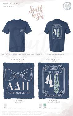 South by Sea Sorority Shirt Designs, Sorority Shirts, Tee Shirts, Custom Clothing Design, Custom Clothes, Formal Shirts, Formal Tie, Formal Dance, Fraternity Formal
