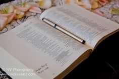 Have guests underline or highlight their favorite verses and then sign their name with any advice or words of wisdom in the margins. Then it becomes the family bible. Can't wait to do this at my wedding one day! On Your Wedding Day, Wedding Tips, Trendy Wedding, Dream Wedding, Wedding 2017, Cruise Ship Wedding, Wedding Planner, Destination Wedding, Wedding Destinations