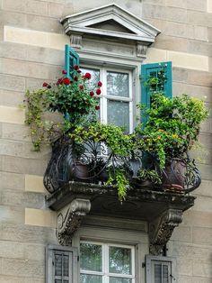 Zurich Balcony With  Flowers by Atelier