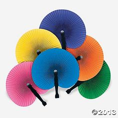 Next Trip...these would make perfect gifts for all the cousins! Folding fans. use while waiting in lines then fold right up during ride. Awesome! a dozen for 3.50