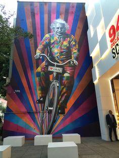 Albert Einstein by Eduardo Kobra @ São Paulo, Brasil