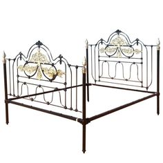 For Sale on - A superb wide Moroccan bed in cast iron and brass finished in black. This bed has been adapted from an original bed, circa It was originally manufactured Modern Bedroom Furniture, Antique Furniture, Moroccan Bed, Cast Iron Beds, Brass Bed, Bed Base, Metal Beds, Antiques, Modern Beds