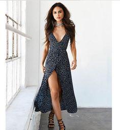 Nice 2017 Black Women's Summer Beach Sundress Floral Evening Party Long Maxi Dress M 2017 2018