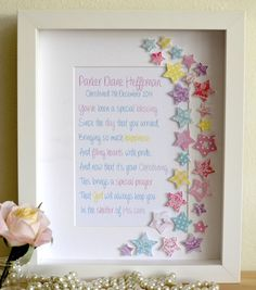 Gorgeous unique personalised baby nursery gifts custom art framed wish upon a star negle Gallery
