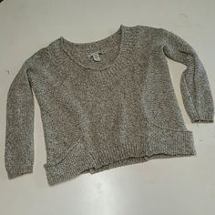 American rag knit sweater top Gently worn. size medium Sweaters Crew & Scoop Necks
