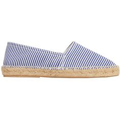 MANGO Striped Cotton Espadrilles (2,205 MKD) ❤ liked on Polyvore featuring shoes, sandals, striped espadrilles, stripe shoes, striped shoes, espadrille shoes and mango sandals