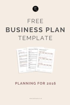 Free Printable Business Plan Template Form GENERIC Sample - Generic business plan template