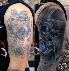 Tattoo shoulder black cover up 49 Super Ideas Shoulder Cover Up Tattoos, Cover Up Tattoos For Men, Black Tattoo Cover Up, Black Cover Up, Cover Tattoo, Tattoos For Guys, Tattoo Shoulder, Feather Tattoos, Body Art Tattoos