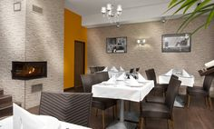 Inside restarant  #fireplace #architecture #modern #carino #czechrestaurant