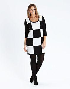 Checkerboard Jumper Dress