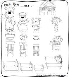 Minibook: Goldilocks and the Three Bears A Retelling