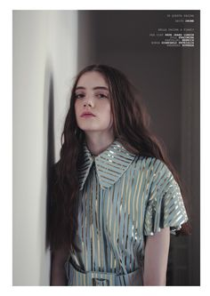 DROMe leather blouse in WU Magazine