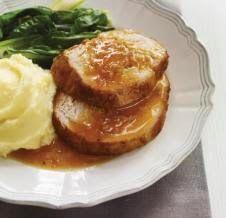 Roti de dinde à l'orange et miel (Moi fait avec rôti porc)