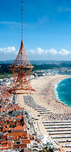 Amazing View of the city of Nazare in Portugal from the Mountain 32 Stupendous Places in Portugal every Travel Lover should Visit Places In Portugal, Visit Portugal, Portugal Travel, Spain And Portugal, Beautiful Places In The World, Places Around The World, Algarve, Places To Travel, Places To See