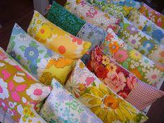 vintage sheet pillows