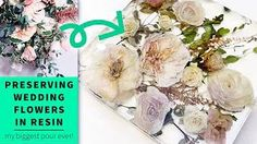 I was so excited when my friend asked me to preserve her beautiful wedding flowers in resin. I've always wanted to do something big with resin, and this was my excuse! In this video I show you how I dried out the flowers, arranged them, and how I made sure that the piece was a success! Wedding Bouquets, Wedding Flowers, Resin Furniture, 35th Anniversary, Friend Wedding, Wedding Things, Resin Flowers, Resin Jewelry, Diy Tutorial