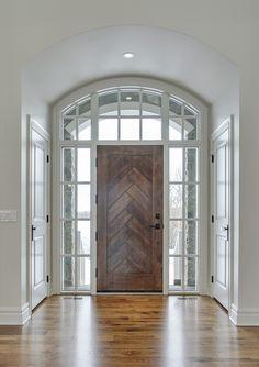 Silverhorn {custom} front door by Veranda Estate Homes Inc.