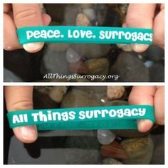 Peace. Love. Surrogacy. Bracelet - Show your support for surrogacy with this bracelet! Only on allthingssurrogacy.org