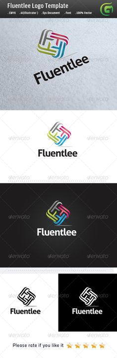 Fluentlee - Logo Design Template Vector #logotype Download it here: http://graphicriver.net/item/fluentlee/5125083?s_rank=1578?ref=nexion