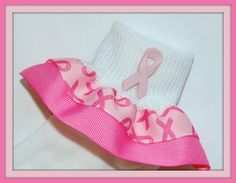 BREAST CANCER Awareness Hot Pink Double Ruffle by SoxThatRock