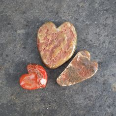 3 Natural heart rocks    handmade Agate hearts by NaturesArtMelbourne,