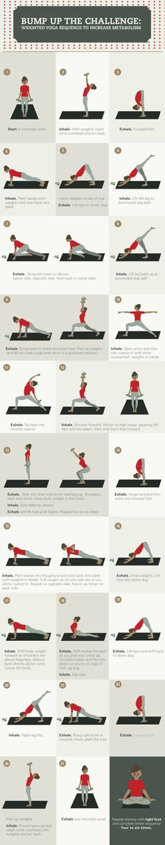 Yoga Poses With Weights