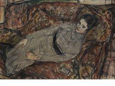 Ruskin Spear R.A. (1911-1990) Portrait of the artist's wife reclining