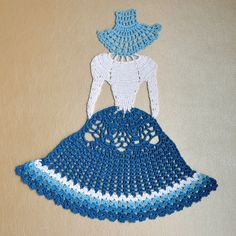 Crochet Crinoline Lady Doily. Home decor. by CraftByRus on Etsy