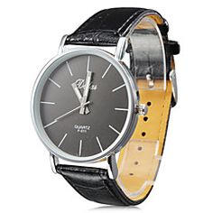 Unisex's PU Analog Quartz Wrist Watch (Black). Grab substantial discounts up to 50% Off at Light in the Box using Coupons & Promo Codes