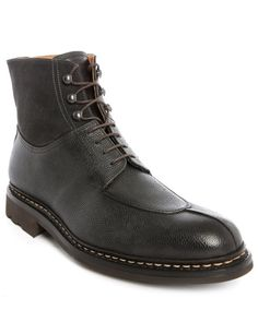Heschung | Gingko Black Dual-fabric Laced Boots for Men | Lyst