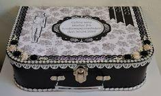 Karins-kortemakeri En koffert til å ha minner fra konfirasnonsdagen oppi