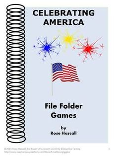 Celebrating American Printable File Folder Games - PK-K or