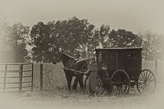 Amish family in Southern Indiana